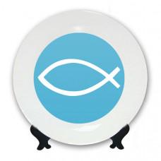Тарелка Христианская рыбка
